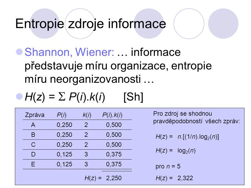 Entropie zdroje informace