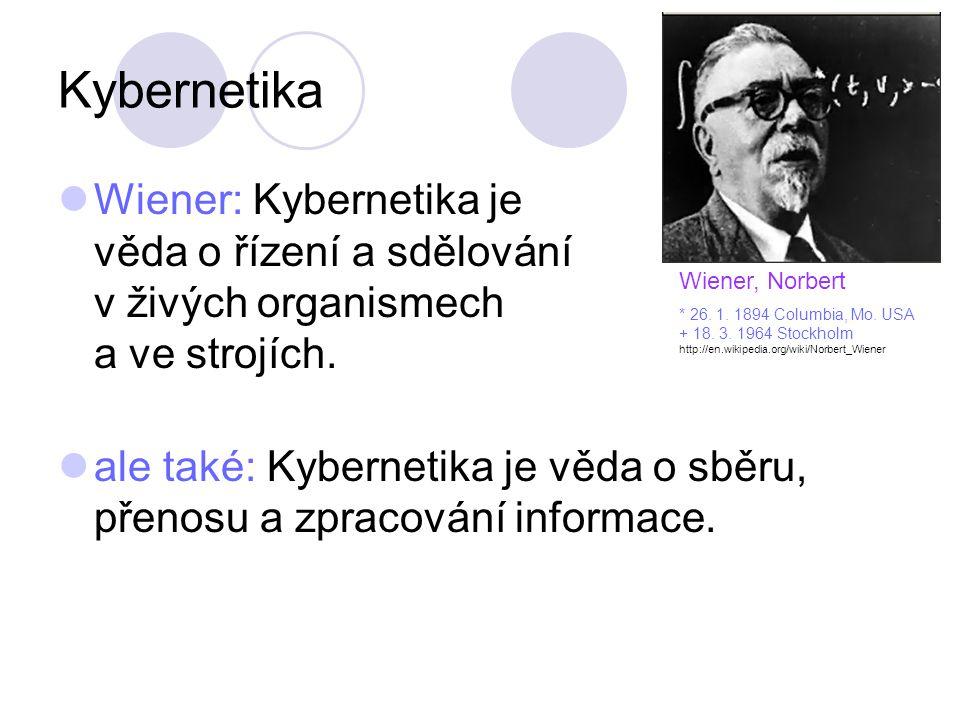 Wiener, Norbert * 26. 1. 1894 Columbia, Mo. USA. + 18. 3. 1964 Stockholm. http://en.wikipedia.org/wiki/Norbert_Wiener.