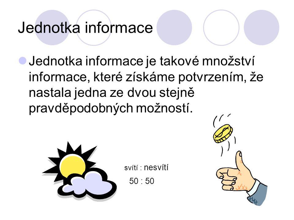 Jednotka informace