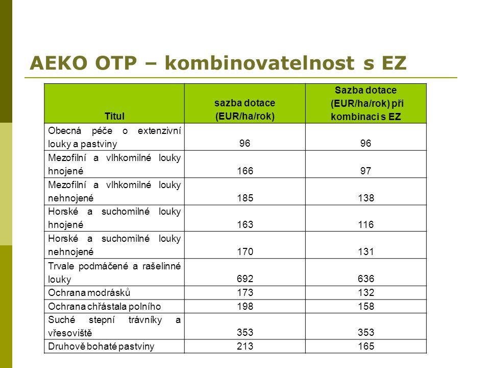 AEKO OTP – kombinovatelnost s EZ