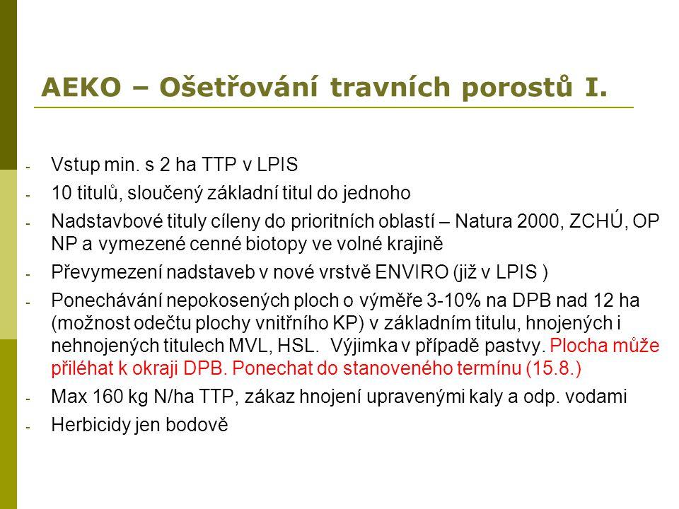 AEKO – Ošetřování travních porostů I.
