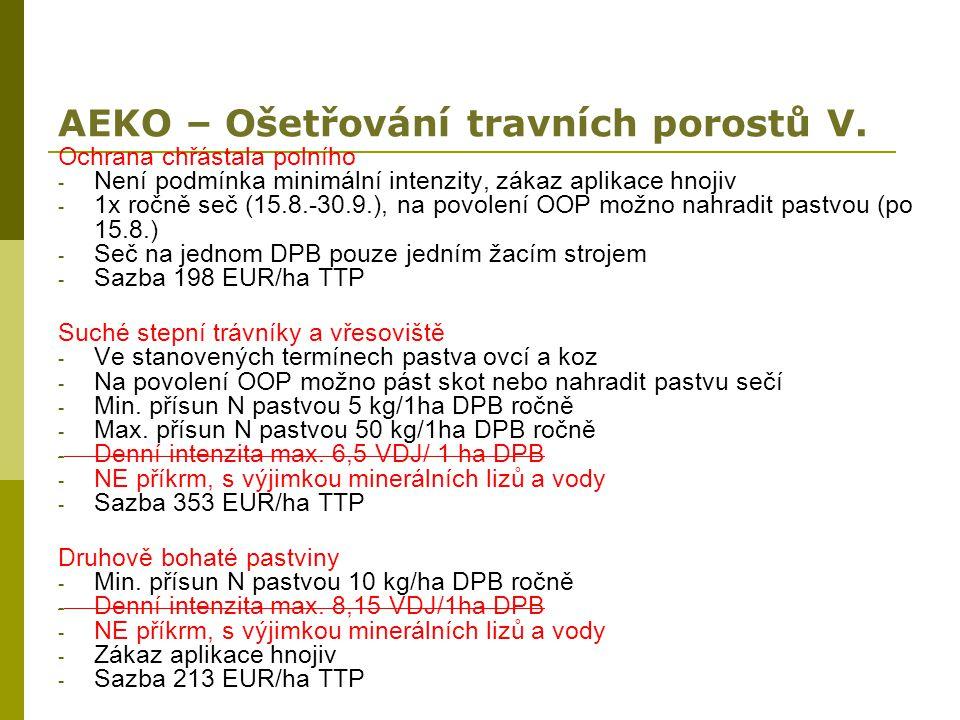 AEKO – Ošetřování travních porostů V.