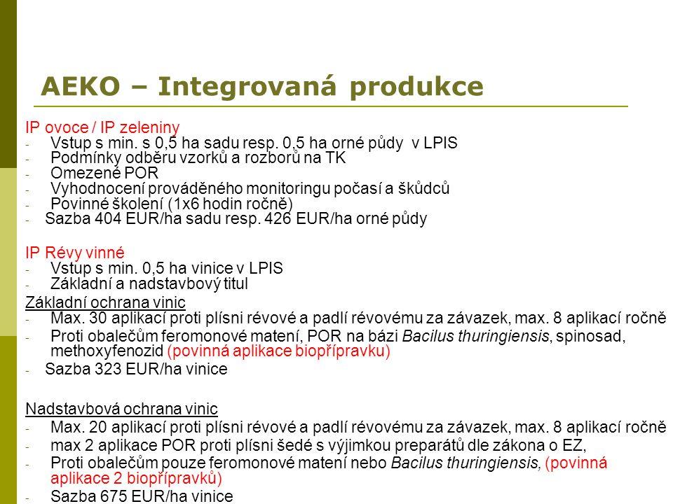 AEKO – Integrovaná produkce