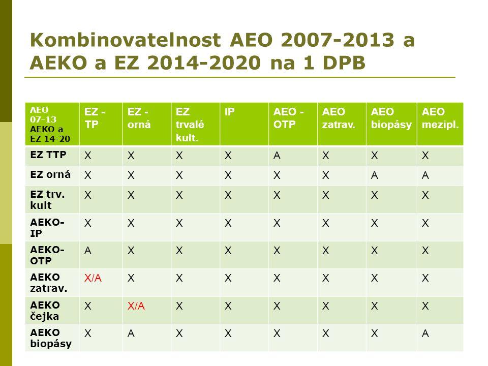 Kombinovatelnost AEO 2007-2013 a AEKO a EZ 2014-2020 na 1 DPB
