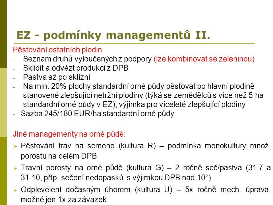 EZ - podmínky managementů II.