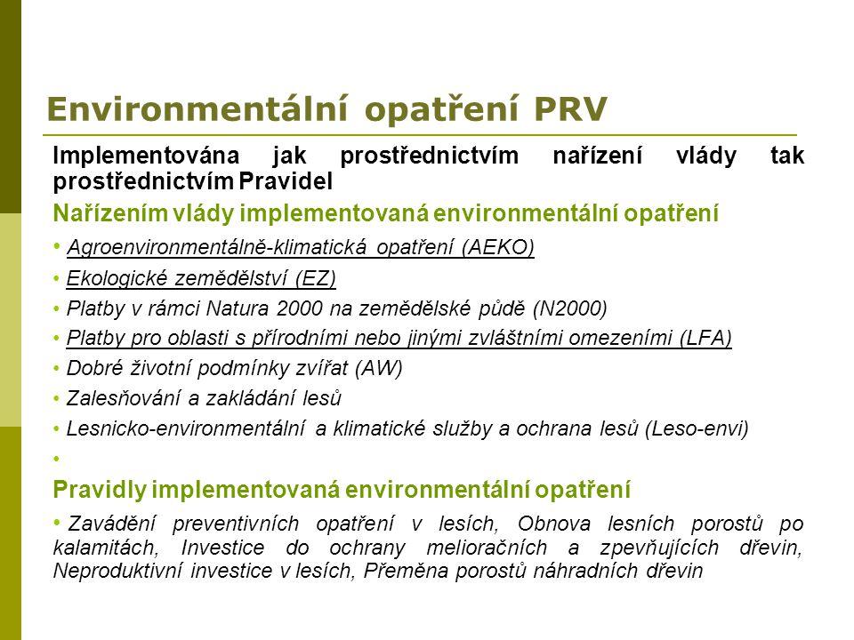 Environmentální opatření PRV