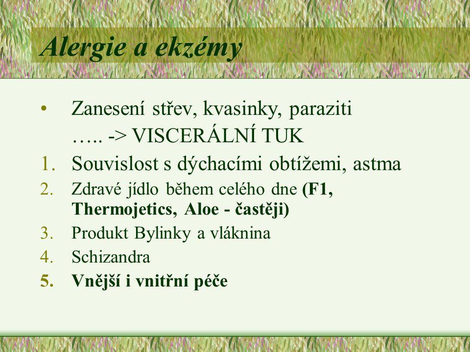 Alergie a ekzémy Zanesení střev, kvasinky, paraziti