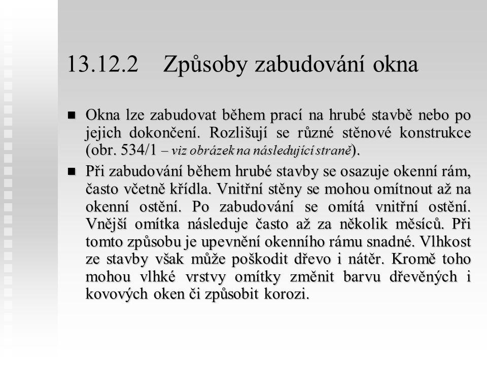 13.12.2 Způsoby zabudování okna