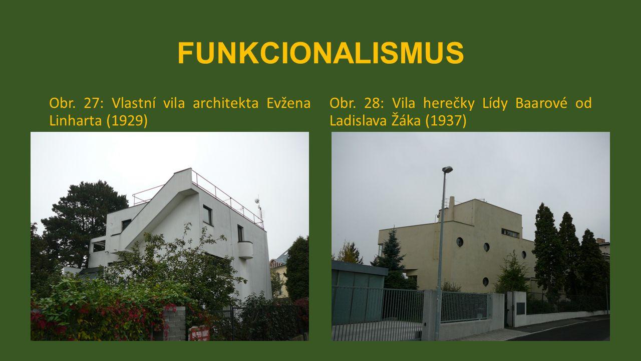 FUNKCIONALISMUS Obr. 27: Vlastní vila architekta Evžena Linharta (1929) Obr.