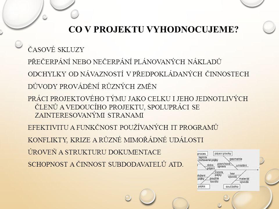 Co v projektu vyhodnocujeme
