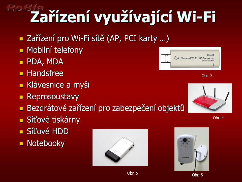 Zařízení využívající Wi-Fi