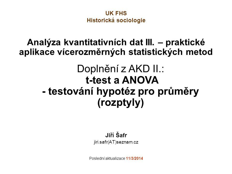 Jiří Šafr jiri.safr(AT)seznam.cz Poslední aktualizace 11/3/2014