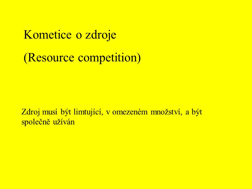 (Resource competition)