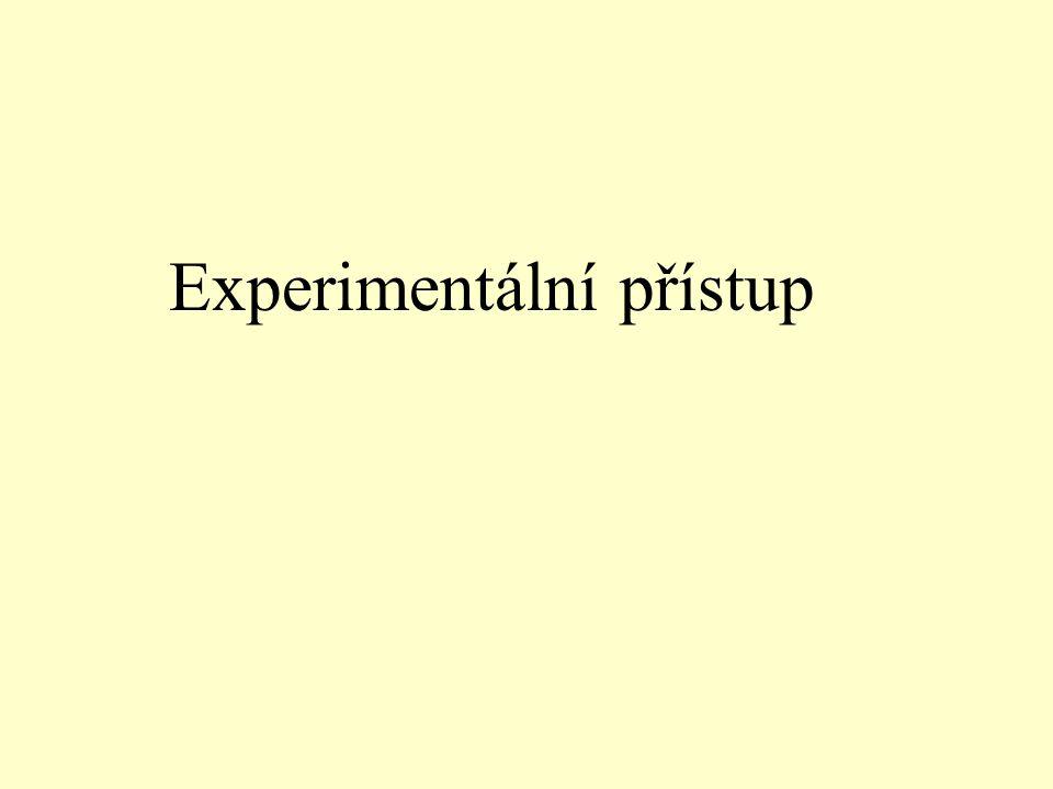 Experimentální přístup