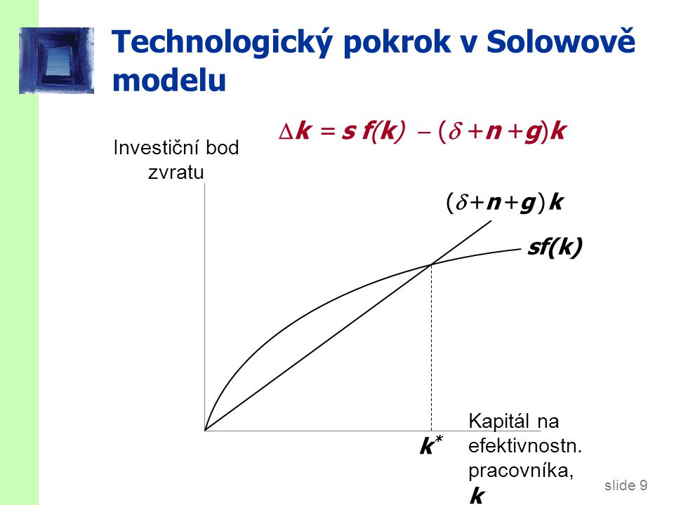 Míry růstu ve stálém stavu v Solowově modelu s technologickým pokrokem