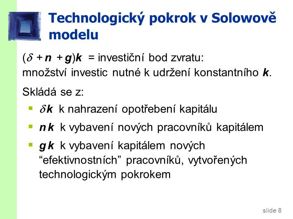 Technologický pokrok v Solowově modelu