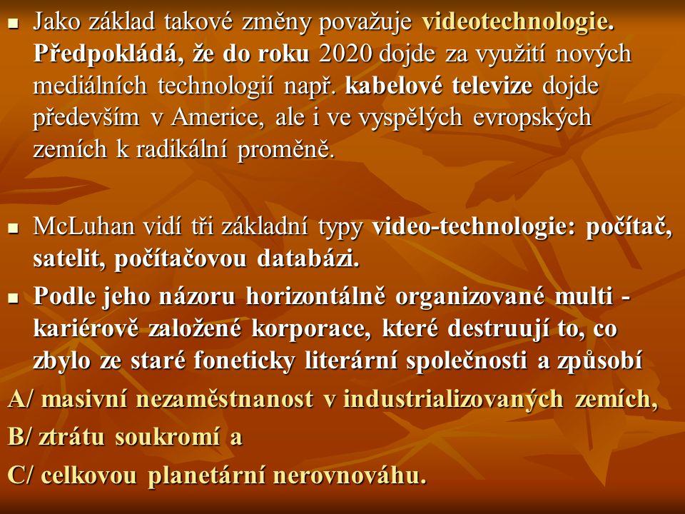 Jako základ takové změny považuje videotechnologie