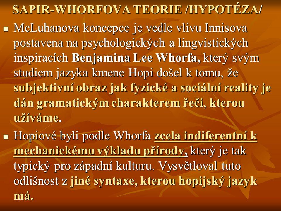 SAPIR-WHORFOVA TEORIE /HYPOTÉZA/