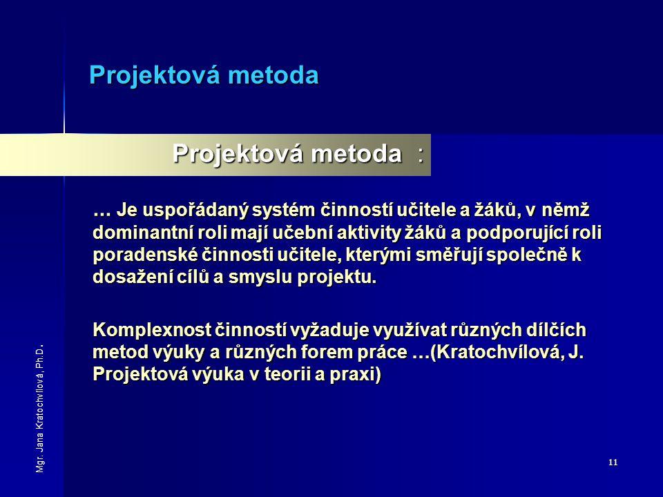 Projektová metoda Projektová metoda :