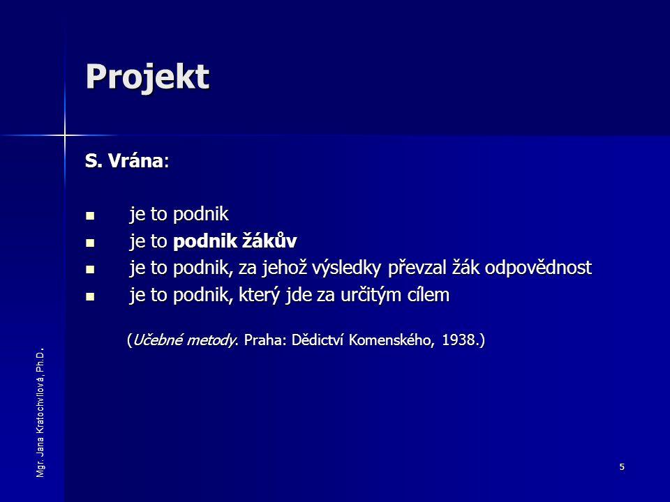 Projekt S. Vrána: je to podnik je to podnik žákův
