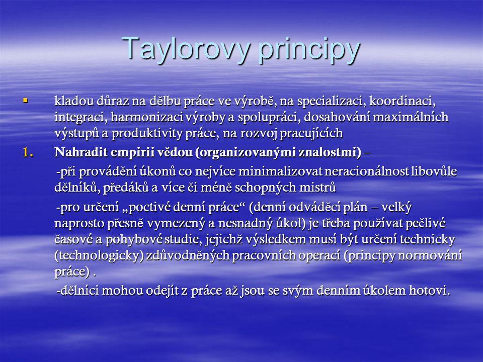 Taylorovy principy