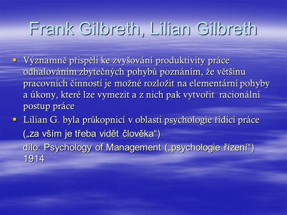 Frank Gilbreth, Lilian Gilbreth