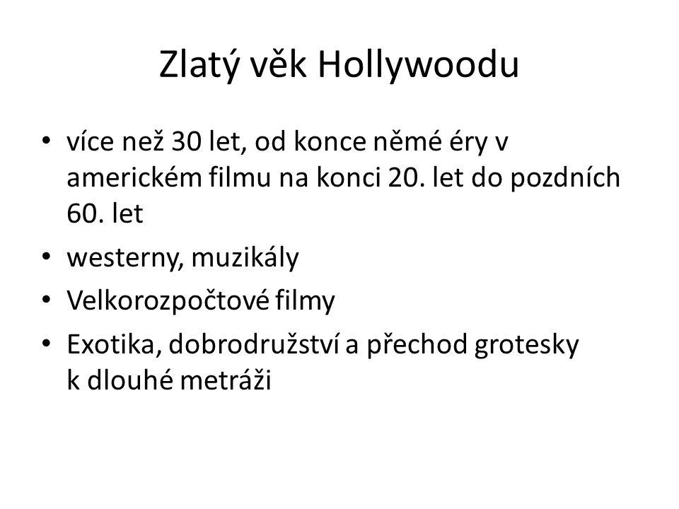 Zlatý věk Hollywoodu více než 30 let, od konce němé éry v americkém filmu na konci 20. let do pozdních 60. let.