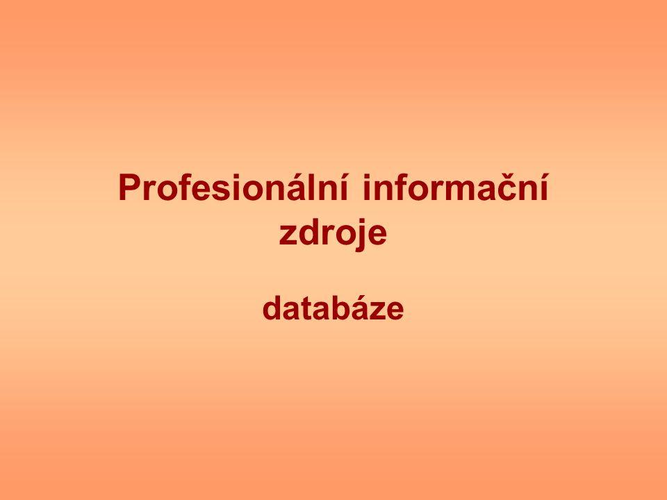 Profesionální informační zdroje