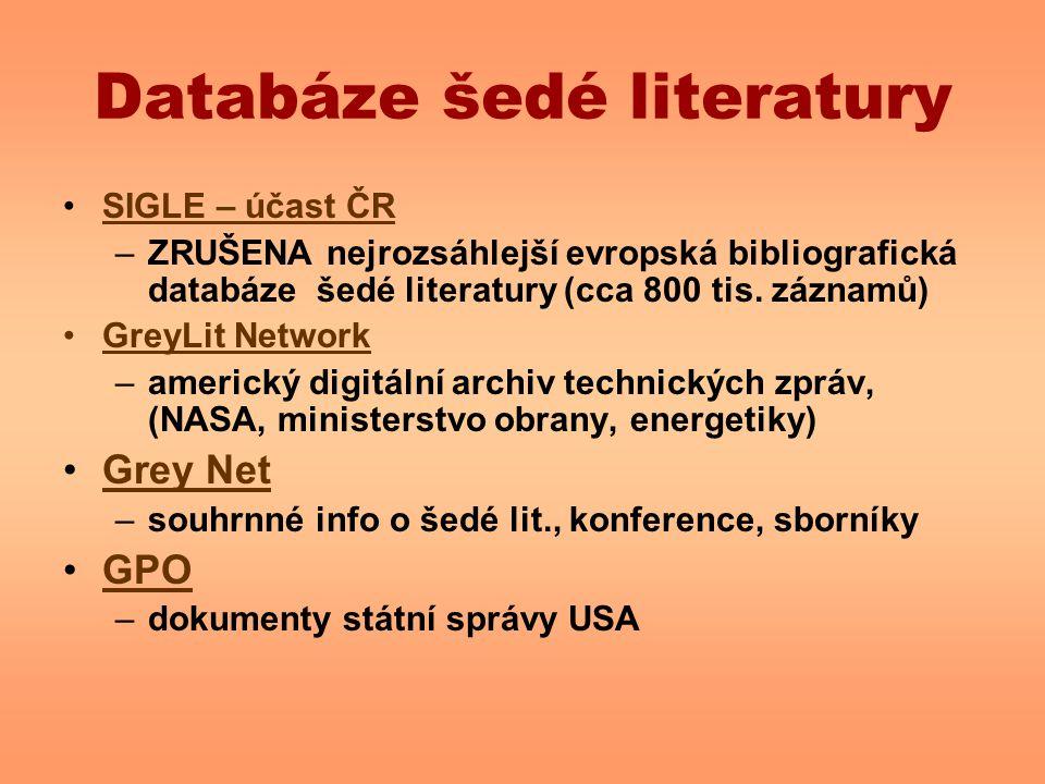 Databáze šedé literatury