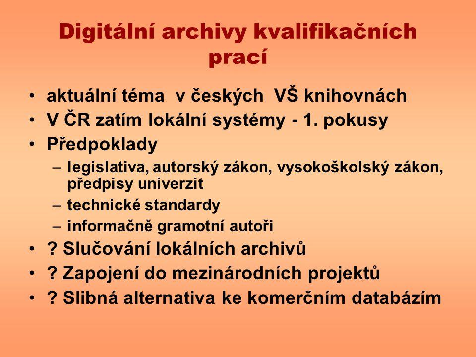 Digitální archivy kvalifikačních prací