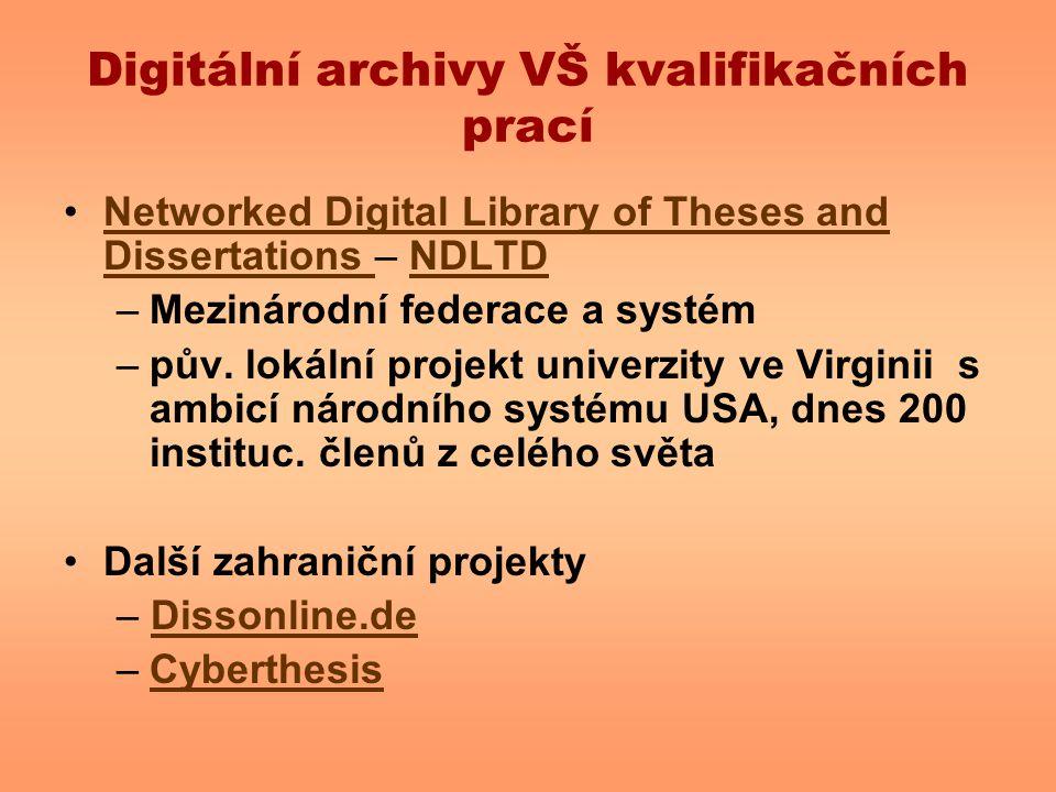 Digitální archivy VŠ kvalifikačních prací