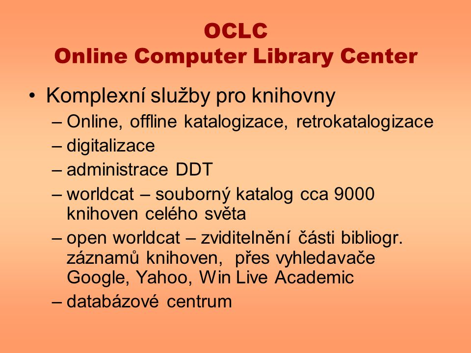 OCLC Online Computer Library Center