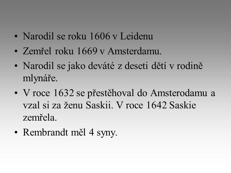 Narodil se roku 1606 v Leidenu