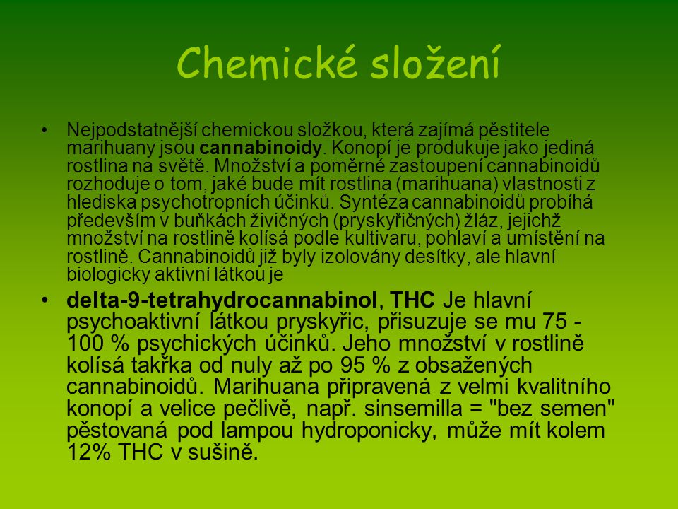 Chemické složení