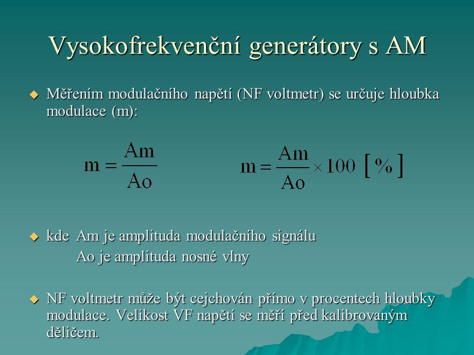 Vysokofrekvenční generátory s AM