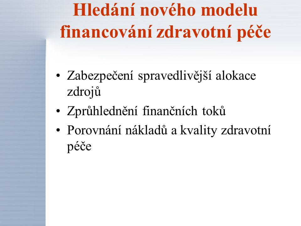 Hledání nového modelu financování zdravotní péče
