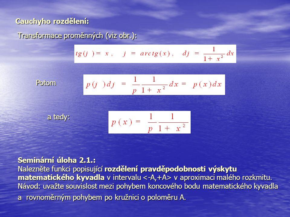 Transformace proměnných (viz obr.):