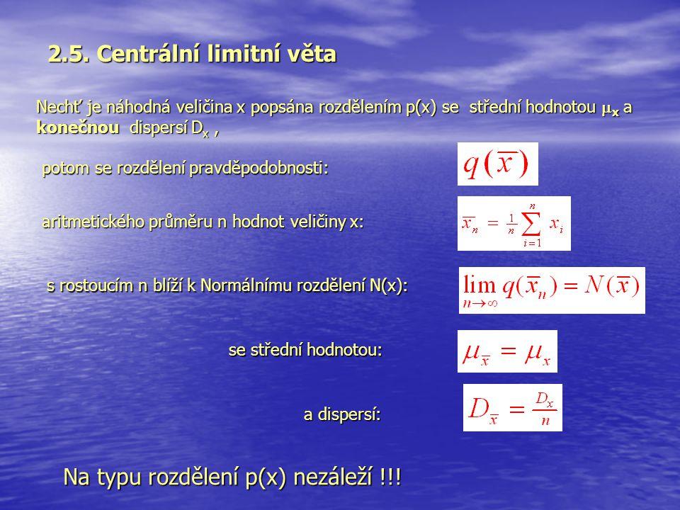2.5. Centrální limitní věta