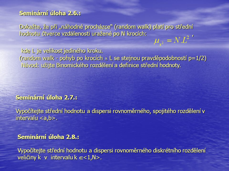 Seminární úloha 2.6.: