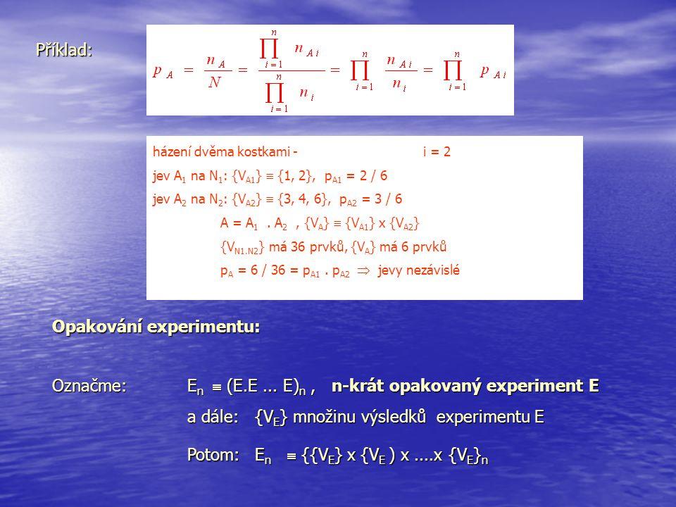 Opakování experimentu: