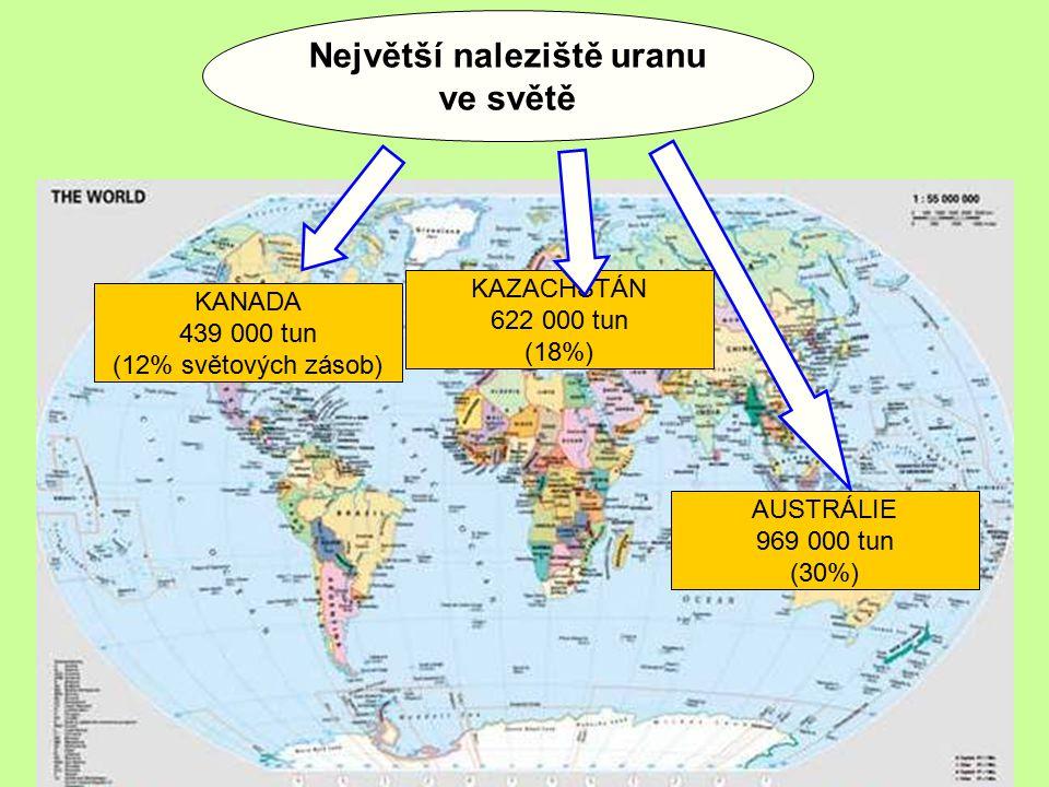 Největší naleziště uranu ve světě