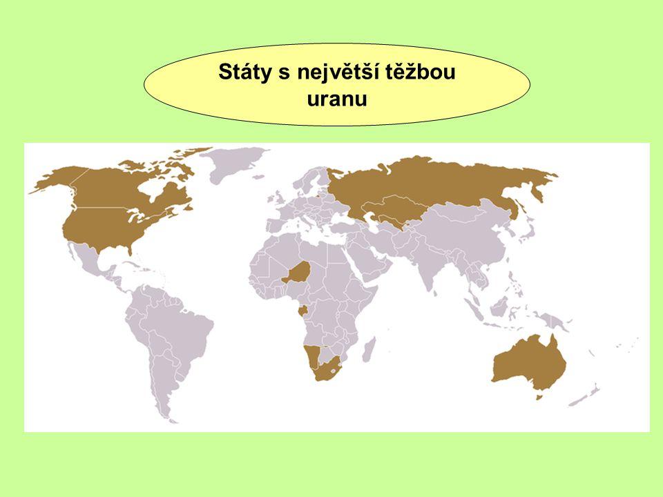 Státy s největší těžbou uranu