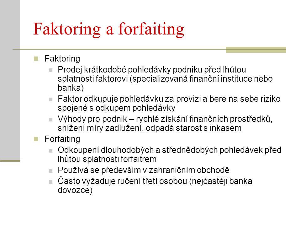 Faktoring a forfaiting