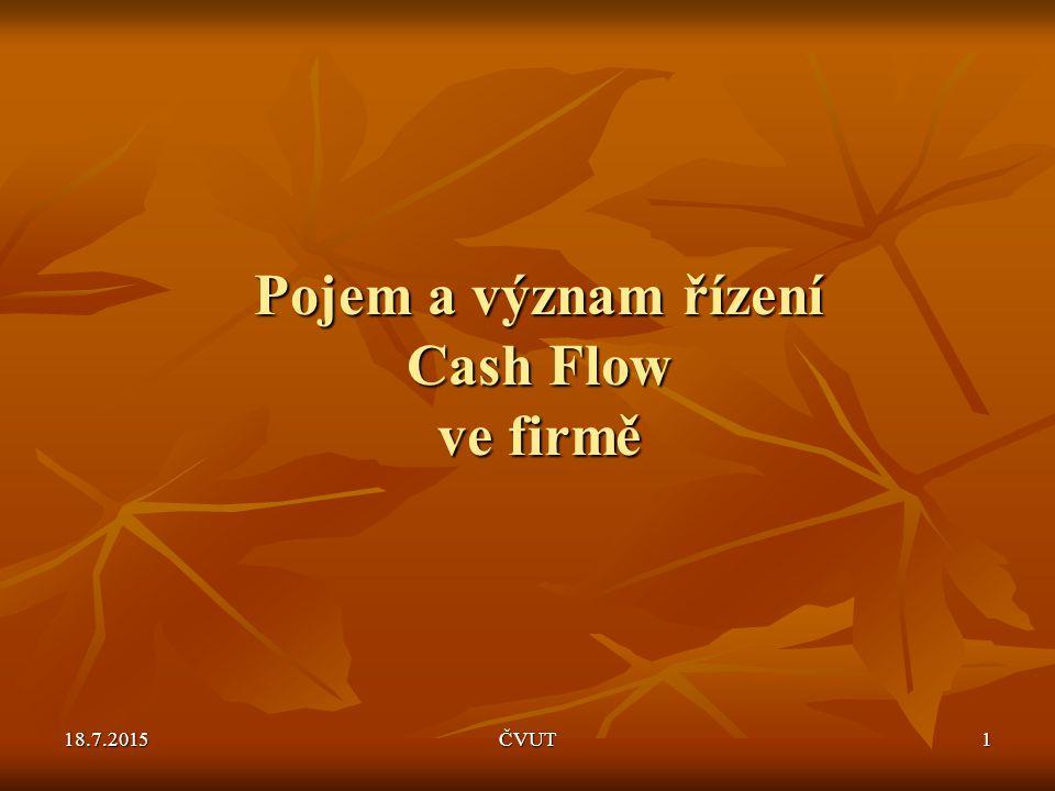 Pojem a význam řízení Cash Flow ve firmě