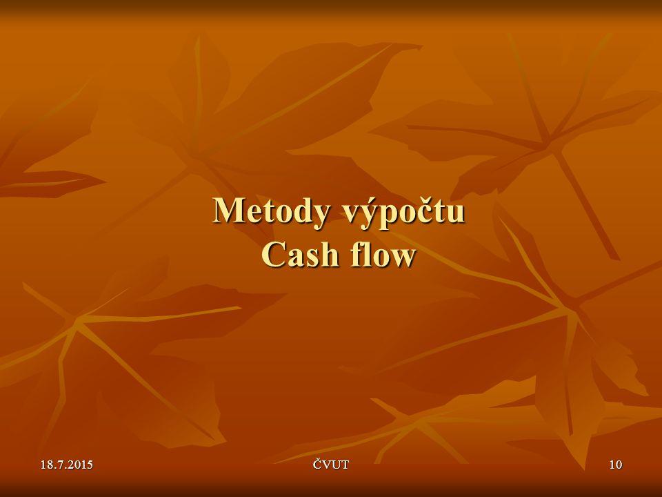 Metody výpočtu Cash flow