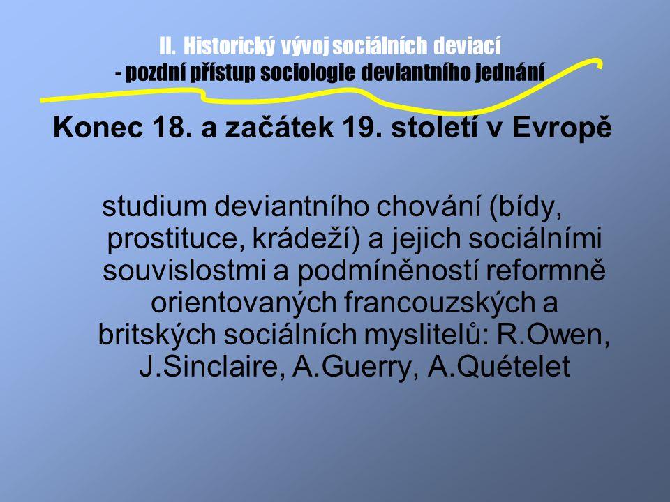 Konec 18. a začátek 19. století v Evropě