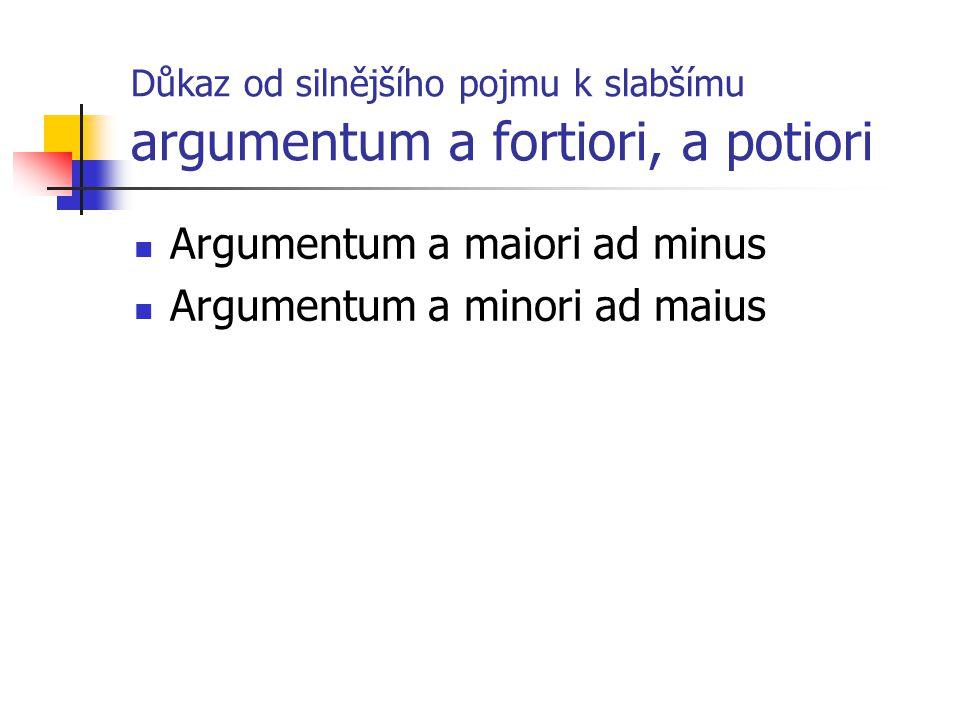 Důkaz od silnějšího pojmu k slabšímu argumentum a fortiori, a potiori