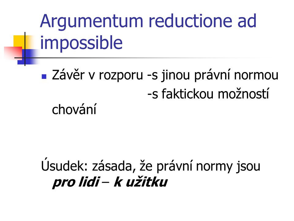 Argumentum reductione ad impossible