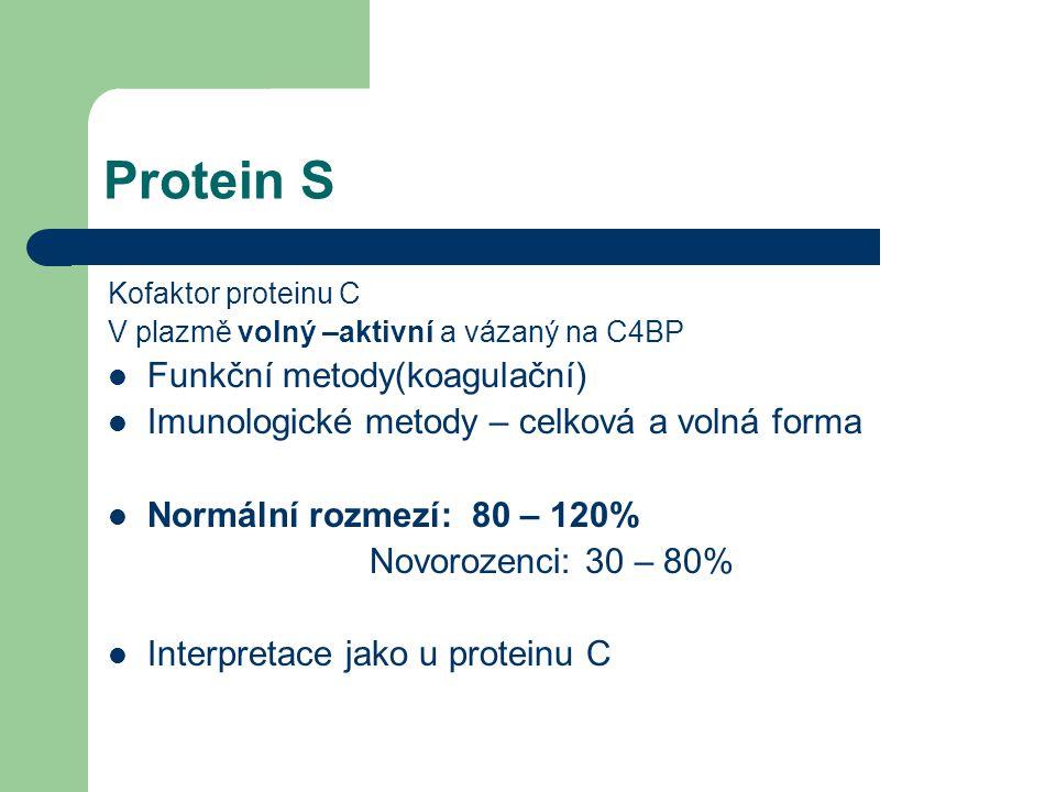 Protein S Funkční metody(koagulační)