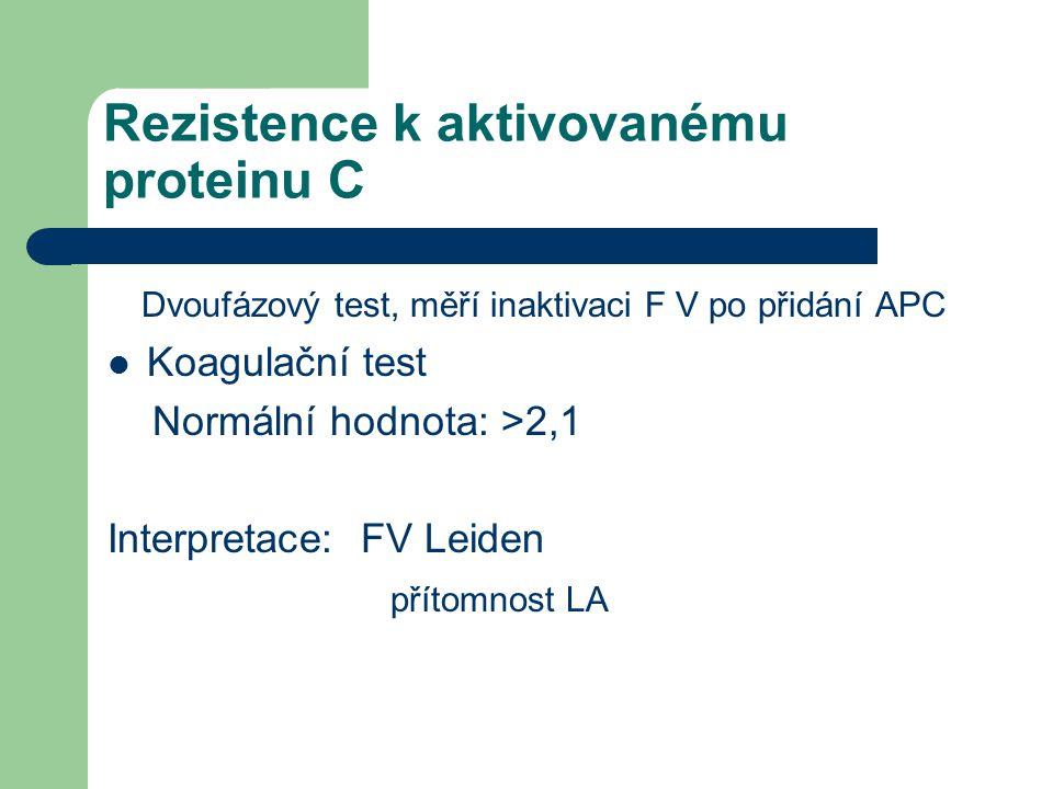 Rezistence k aktivovanému proteinu C
